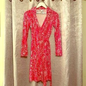 Diane Von Furstenberg python print wrap dress